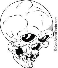 Royalty Free Vector - Skull - Drawing Art of Cartoon Scary...