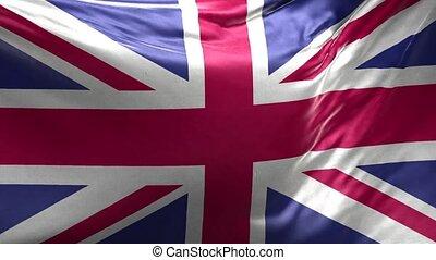 royaume, 3d, boucle, uni, drapeau