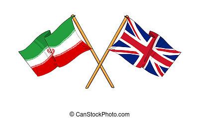 royaume, amitié, alliance, iran, uni