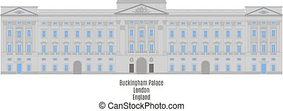 royaume, buckingham, uni, palais, londres