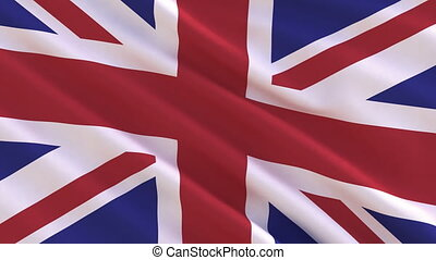 royaume, drapeau ondulant, uni