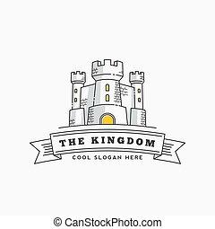 royaume, forteresse, ou, château, résumé, typographie, ...