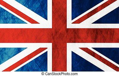 royaume, grand, uni, grunge, grande-bretagne, drapeau