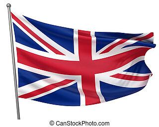royaume, national, uni, drapeau