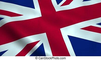 royaume, réaliste, drapeau, uni