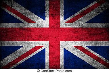 royaume, sombre, drapeau, uni, texture