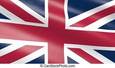 royaume, uni, animation, drapeau