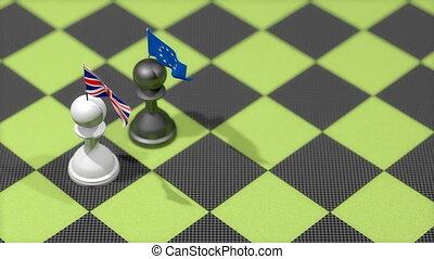 "royaume, uni, ""chess, union"", européen, pion, pays, drapeau"