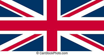 royaume-uni, drapeau, union jack, -, étai