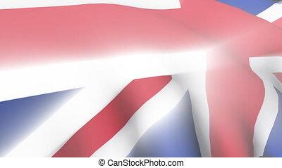 royaume, uni, drapeau