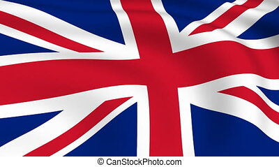 royaume, uni, voler, drapeau, fait boucle,  