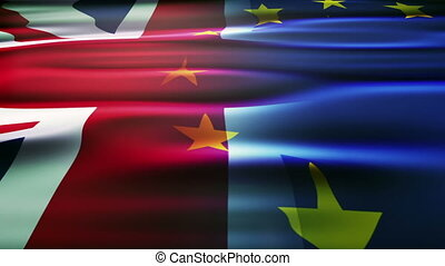 royaume, union, uni, européen, flag.