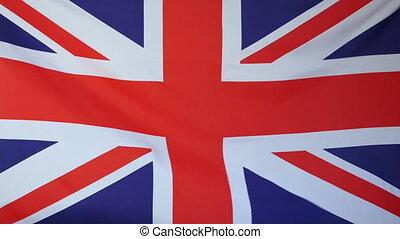 royaume, vrai, drapeau, uni, tissu