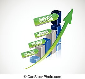 rozłączenie, teamwork, handlowy, powodzenie, strategia