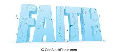 rozdrabniając, wiara