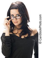 rozdziewając, okulary