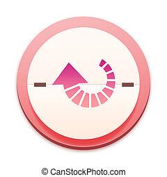 roze, 300, reeks, op, pictogram, selectable, geheel