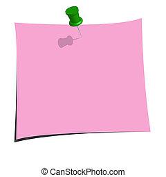 roze, aantekening