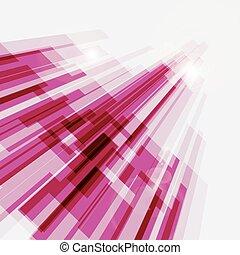 roze, abstract, lijnen, perspectief, achtergrond, recht