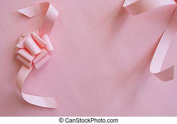roze, achtergrond., frame, lint