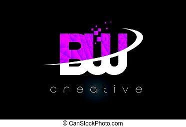 roze, b, brieven, creatief, kleuren, bw, ontwerp, w, witte