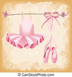 roze, ballet pantoffels