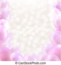 roze, ballons, grens