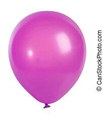 roze, balloon, vrijstaand, op wit