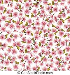 roze, blossom , seamless, achtergrond, sakura
