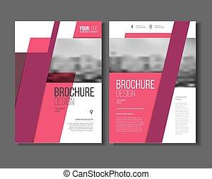 roze, communie, zakelijk, abstract, jaarlijks, dekking, blaadje, informatieboekje , vector, vector, a4, mal, rapport, opmaak, geometrisch, presentatie, of, grootte