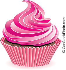 roze, cupcake