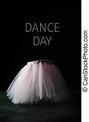 roze, dans, tutu, dag, tekst