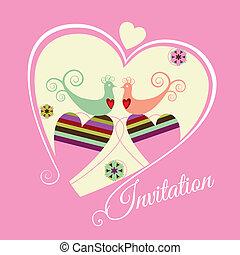 roze, datum, verplichting, sparen, invit