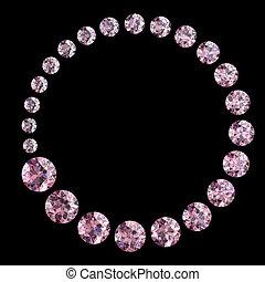 roze, diamant