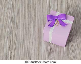 roze, doosje, cadeau, paarse , boog, lint