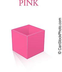 roze, doosje, witte , vrijstaand