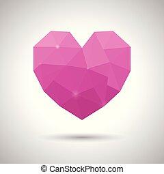 roze, driehoek, heart., valentine, moeder, en, huwelijksdag,...