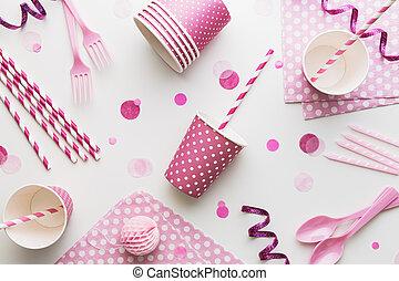 roze, feestje, achtergrond