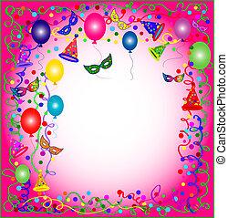roze, feestje, en, carnaval, achtergrond