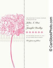 roze, floral, vector, achtergrond