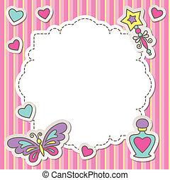 roze, frame