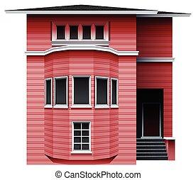 roze, gebouw