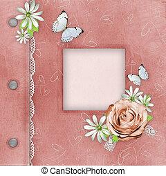 roze, gedenkboek dek, foto's