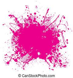 roze, grunge, splat