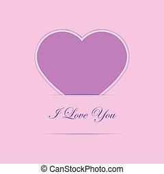 roze, hart, de kaart van het document, valentijn