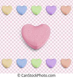 roze, hart, versuikeren
