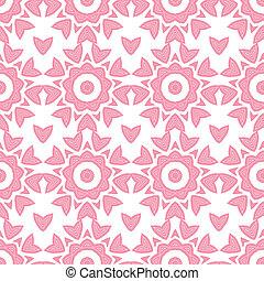 roze, herhalen, model, abstract, seamless, geometrisch, ...
