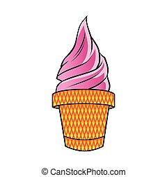 roze, ijs