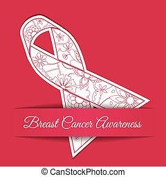 roze, kanker, lint, achtergrond, bewustzijn, borst