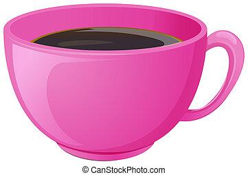 roze, koffiekop